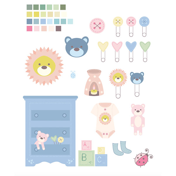 Illustrations: Baby Things