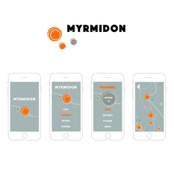 UX/UI Design for iPhone/iPad game Myrmidon